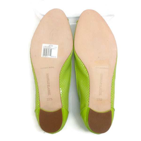 Anetina Lime Patent Leather Flats 37.5
