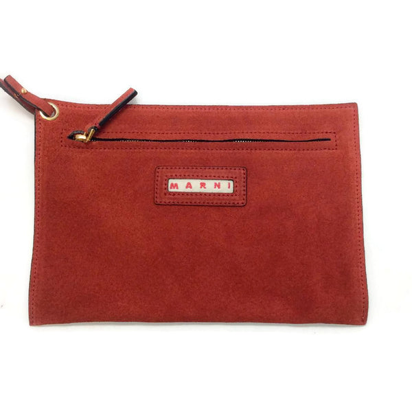 Bucket Tote Port Red by Marni pouch