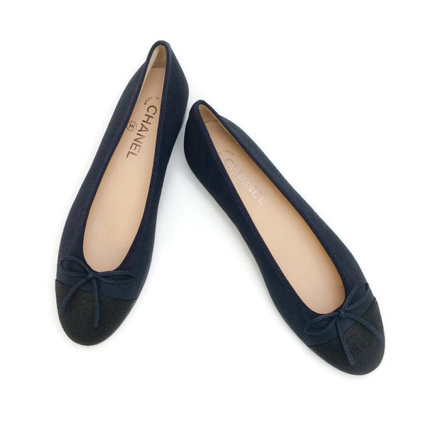Classic Black / Navy Ballet Flats by Chanel