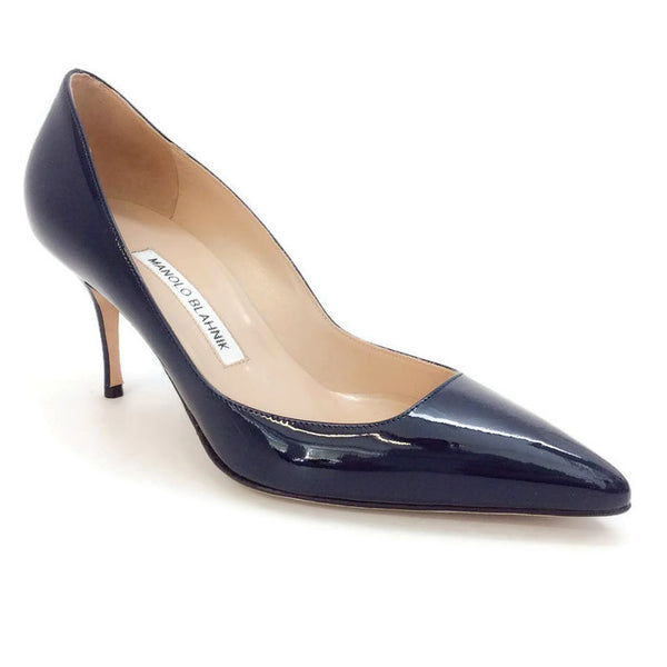 Arina Patent Navy Pumps by Manolo Blahnik