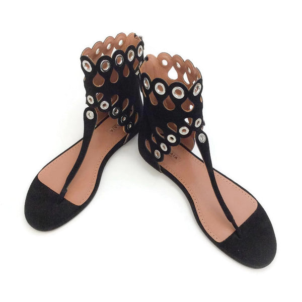 Cut Out Grommet Sandals by Alaïa pair