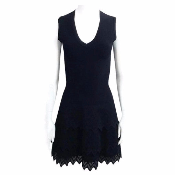 V Neck Knit Dress by Alaïa