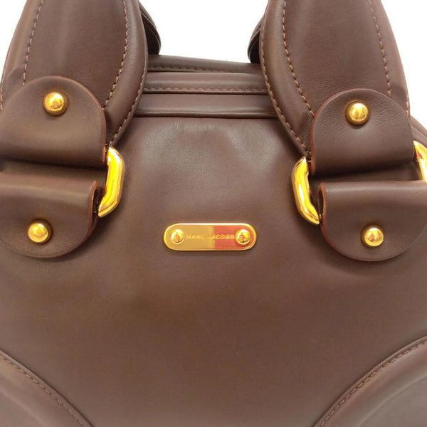 Bowling Bag Brown by Marc Jacobs logo