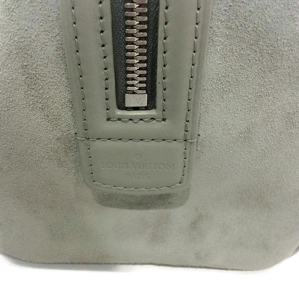 Limited Edition Grey Suede Illusion Speedy PM Satchel by Louis Vuitton side detail