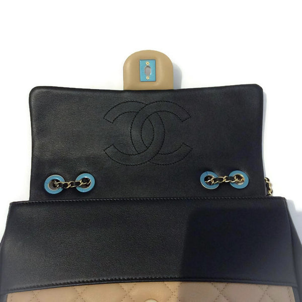 Classic Flap Shoulder Bag Black / Tan by Chanel interior alternate