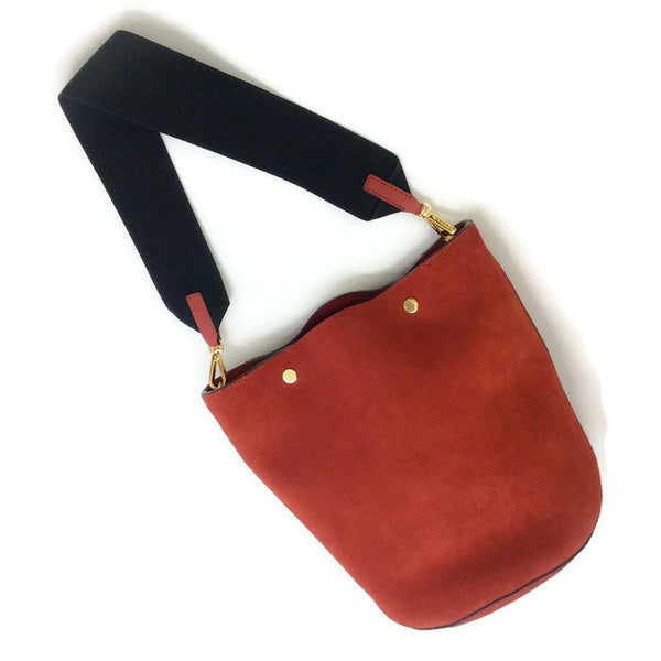 Bucket Tote Port Red by Marni with strap