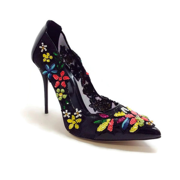 Alyssame Black / Multi Pumps by Oscar de la Renta