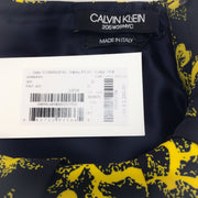 Calvin Klein 205W39NYC Yellow / Black Floral Sleeveless Blouson Dress
