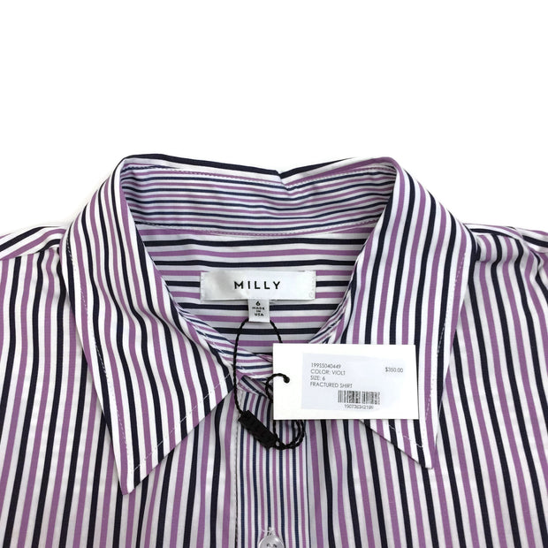 MILLY Violet Fractured Shirt