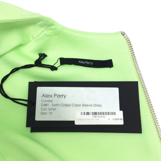 Alex Perry Lime Coralie Dress