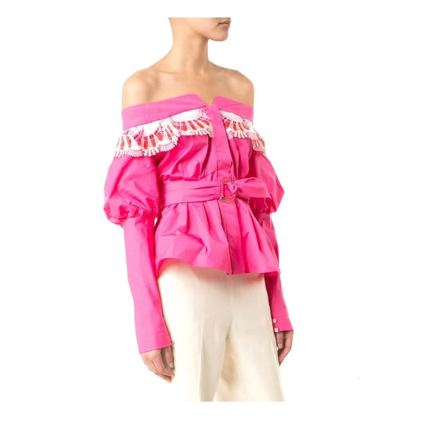 Peter Pilotto Pink Embroidered Blouse side