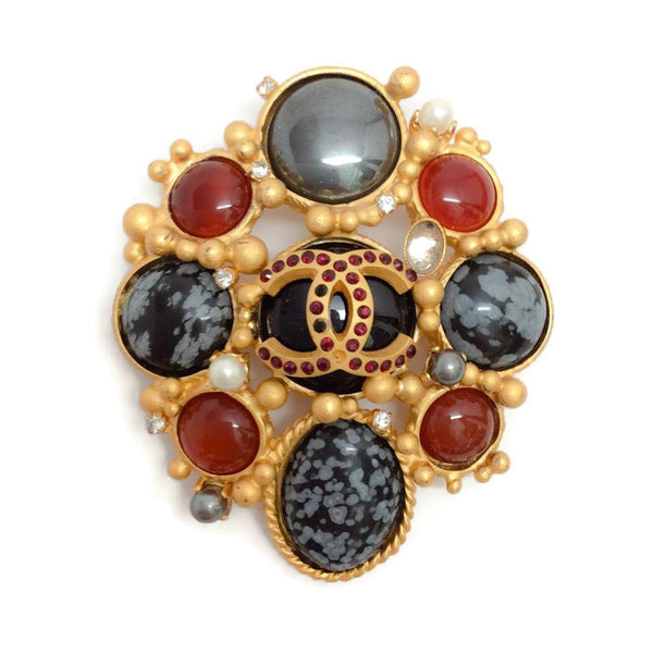 Autumn 2001 Jeweled Brooch by Chanel