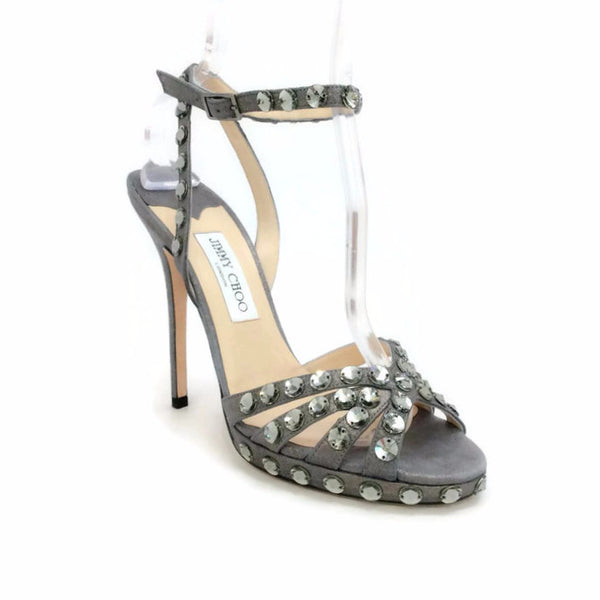 Jigsaw Silver Sandals by Jimmy Choo