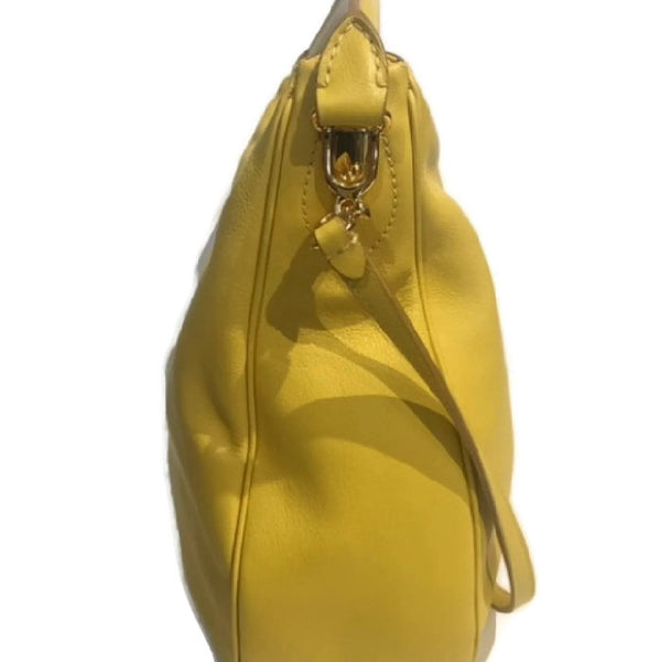 Limited Edition Yellow Satchel by Mark Cross side