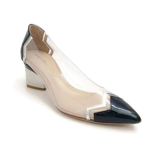 Lucite and Patent Chevron Pump by Nicholas Kirkwood