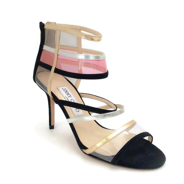 Suede and Acrylic Sandals by Jimmy Choo