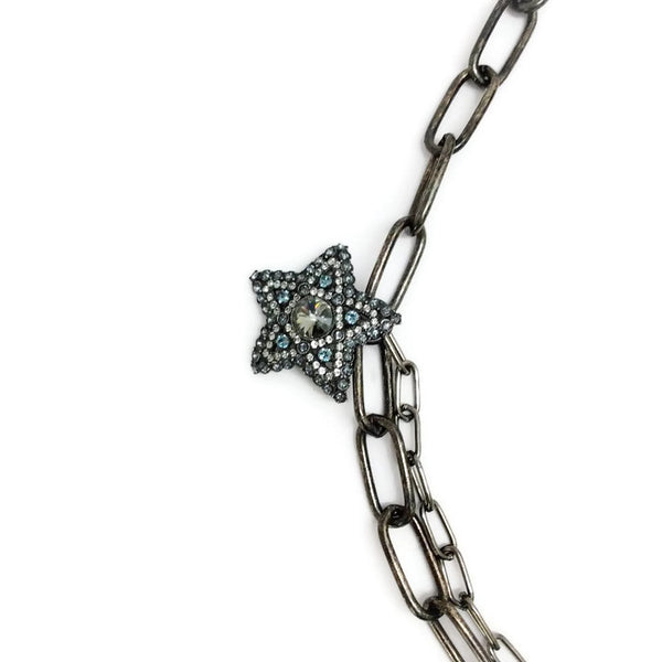 Crystal Star and Moon Short Necklace by Lanvin star