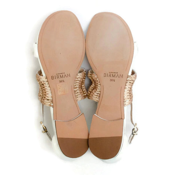 Jin Tropic White Sandals by Alexandre Birman 38.5