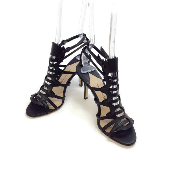 Attica Black Sandals by Paul Andrew pair