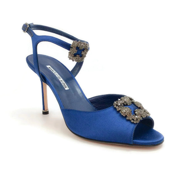 Crystal Embellished Sandals by Manolo Blahnik