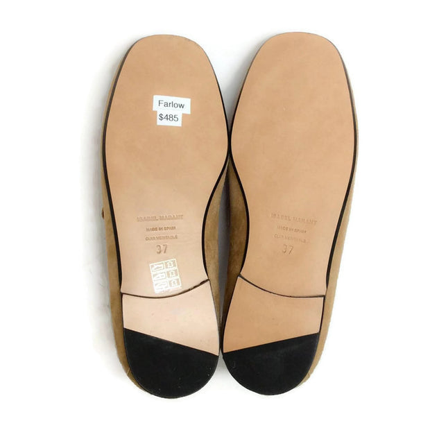 Farlow Suede Camel Loafers by Isabel Marant 37