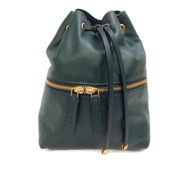 Mini Leather Bucket Backpack by Marni