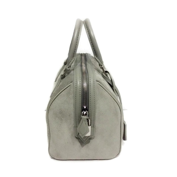 Limited Edition Grey Suede Illusion Speedy PM Satchel by Louis Vuitton side