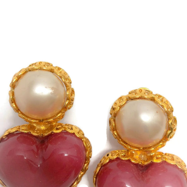 Vintage 1980's Pearl Drop Earrings by Chanel pearl