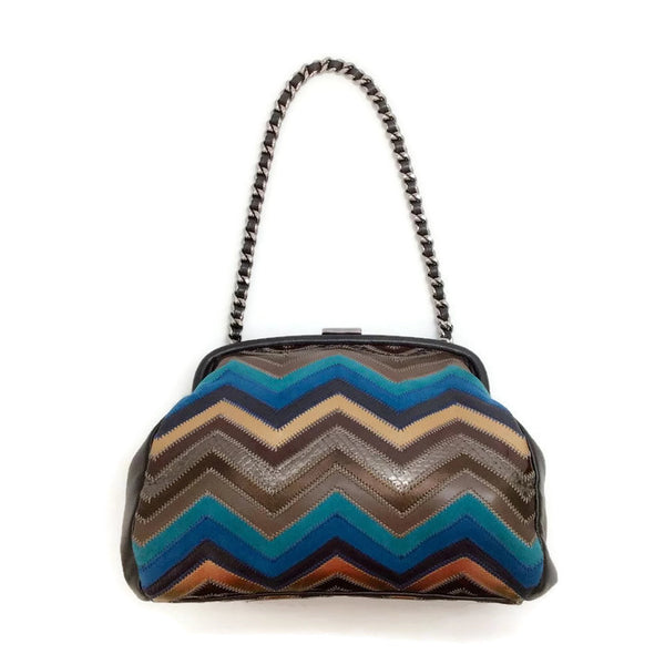 Patchwork Zig Zag Shoulder Bag by Chanel