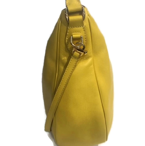 Limited Edition Yellow Satchel by Mark Cross side alternate