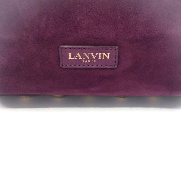 Suede Bucket Bag With Agate by Lanvin logo