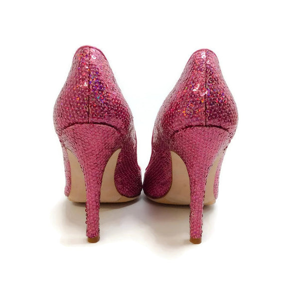 Ciuzzosa Pink Sequin Pumps by Manolo Blahnik back