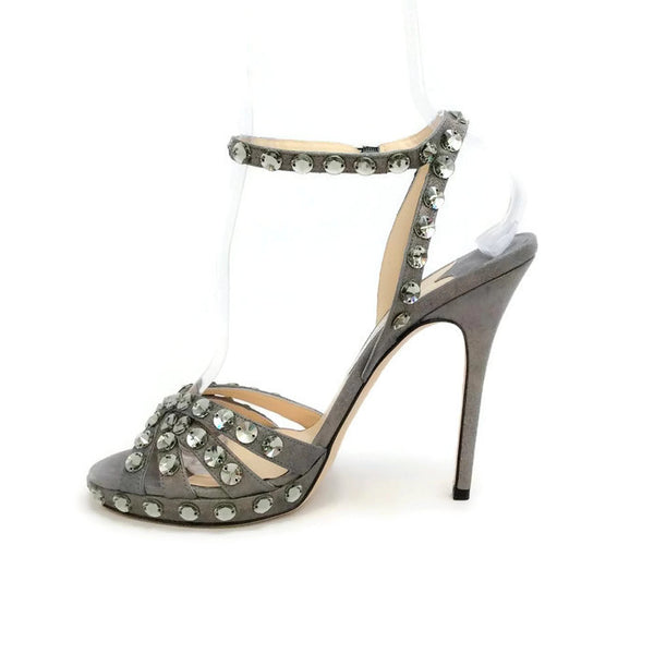 Jigsaw Silver Sandals by Jimmy Choo inside