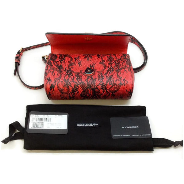 Miss Sicily Micro Dauphine Shoulder Bag by Dolce & Gabbana dust bag and accessories