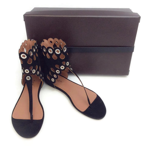 Cut Out Grommet Sandals by Alaïa with box