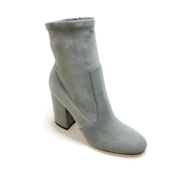 Suede Stretch Gray Bootie by Valentino