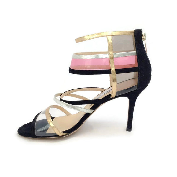 Suede and Acrylic Sandals by Jimmy Choo inside