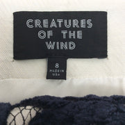 Creatures of the Wind Navy / Black / White Velvet Lace Skirt