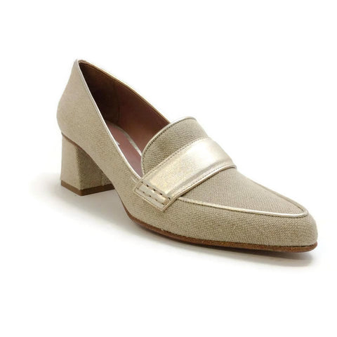 Margot Linen / Champagne Pumps by Tabitha Simmons