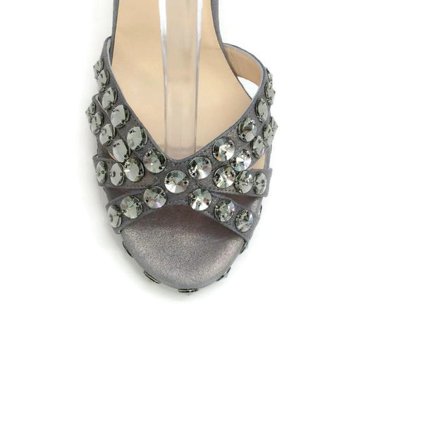 Jigsaw Silver Sandals by Jimmy Choo toe