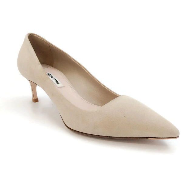 Curved Heel Pumps by Miu Miu