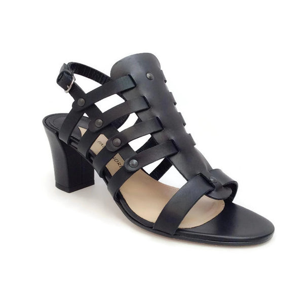 Addison Birdcage Black Sandals by Paul Andrew