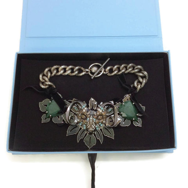 Jeweled Ram Necklace by Lanvin in box