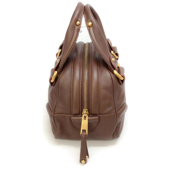 Bowling Bag Brown by Marc Jacobs side