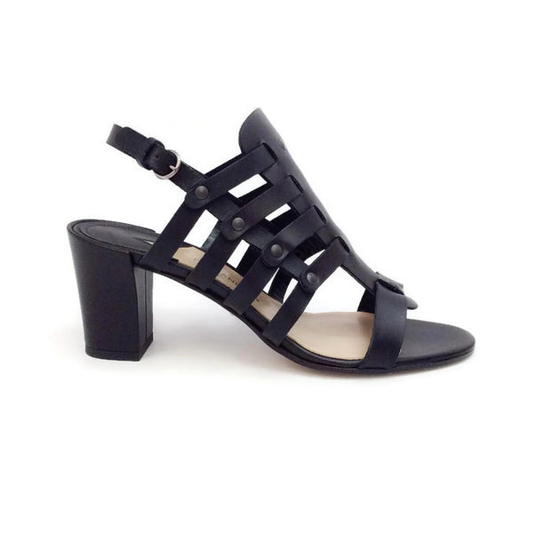 Addison Birdcage Black Sandals by Paul Andrew outside