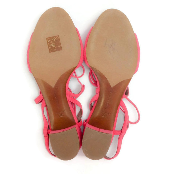 Lori Raspberry Lace Up Sandal by Tabitha Simmons 38