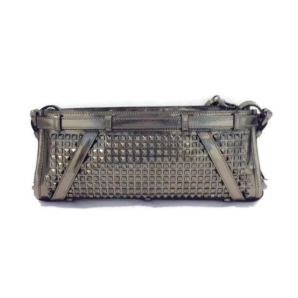 Hyde Patent Studded Gunmetal Clutch by Burberry Prorsum