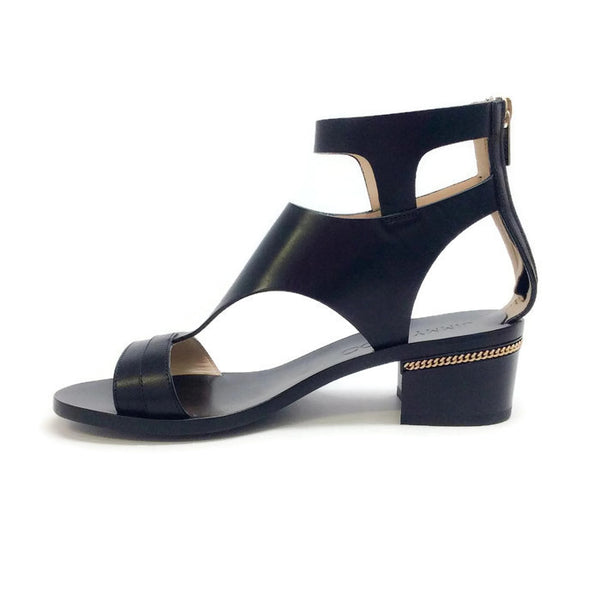 Block Heel With Gold Chain Black Sandals by Jimmy Choo inside