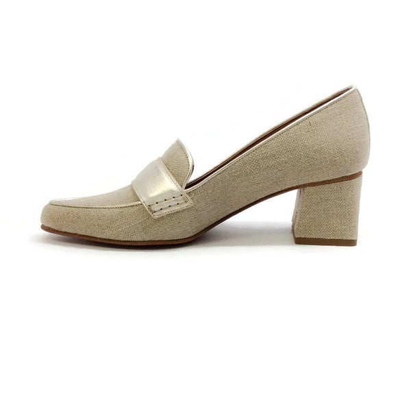 Margot Linen / Champagne Pumps by Tabitha Simmons inside