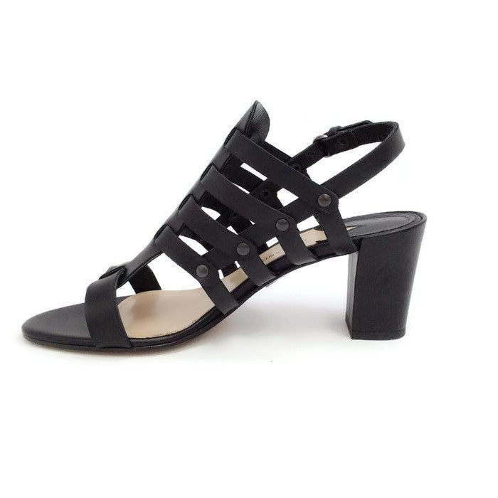 Addison Birdcage Black Sandals by Paul Andrew inside